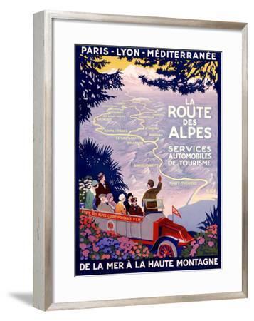 La Route des Alpes-Roger Broders-Framed Giclee Print