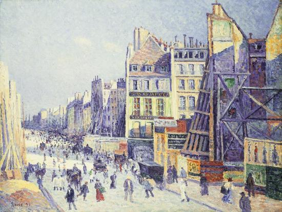 La Rue Reaumur, 1897-Maximilien Luce-Giclee Print