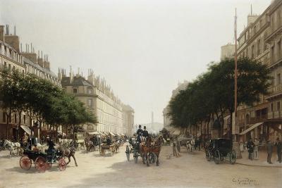 La Rue Royale, Paris, France-Edmond-Georges Grandjean-Giclee Print