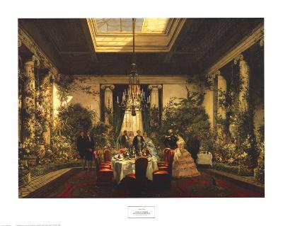 La Salle A Manger De La Princesse Mathil Art Print By Charles Giraud