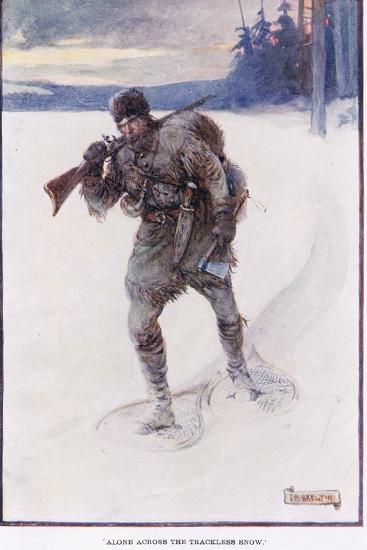 La Salle Alone Accross the Trackless Snow-Joseph Ratcliffe Skelton-Giclee Print