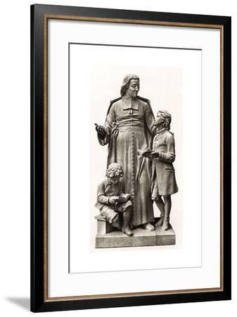 La Salle Statue--Framed Giclee Print
