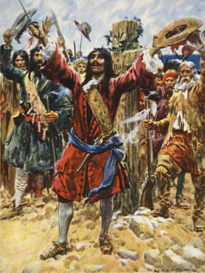 La Salle Taking Possession of Louisiana-Arthur C. Michael-Giclee Print