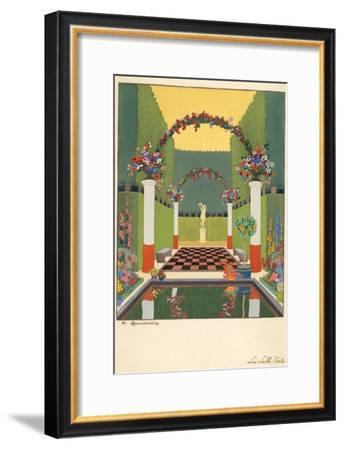 La Salle Verte, Pub. Paris 1919-Georges Barbier-Framed Giclee Print