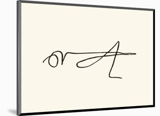 La Sauterelle, c.1907-Pablo Picasso-Mounted Serigraph