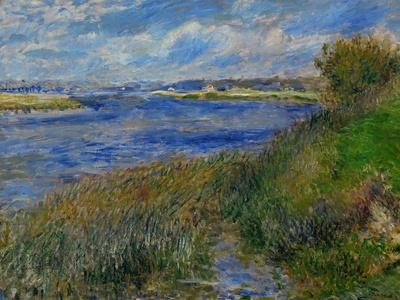 La Seine a Champrosay, Banks of the Seine River at Champrosay, 1876-Pierre-Auguste Renoir-Giclee Print