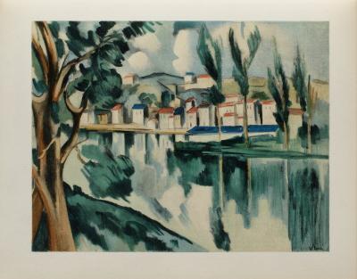La Seine a Chatou, 1908-Maurice De Vlaminck-Collectable Print