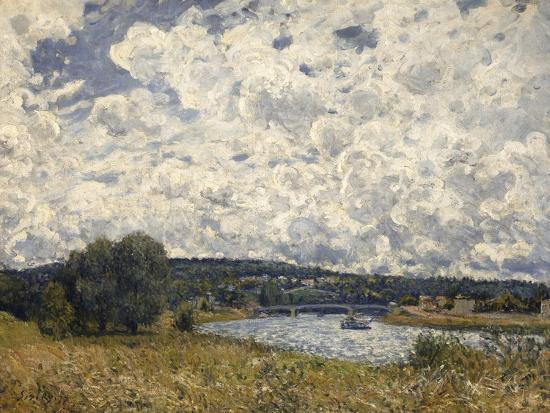 la Seine à Suresnes (Hauts de Seine)-Alfred Sisley-Giclee Print