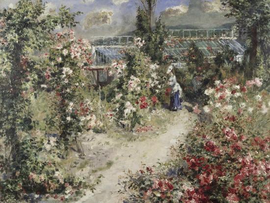 La Serre, Greenhouse-Pierre-Auguste Renoir-Giclee Print