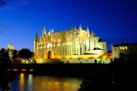 La Seu, the Cathedral of Santa Maria of Palma, Majorca, Balearic Islands, Spain, Europe-Carlo Morucchio-Photographic Print