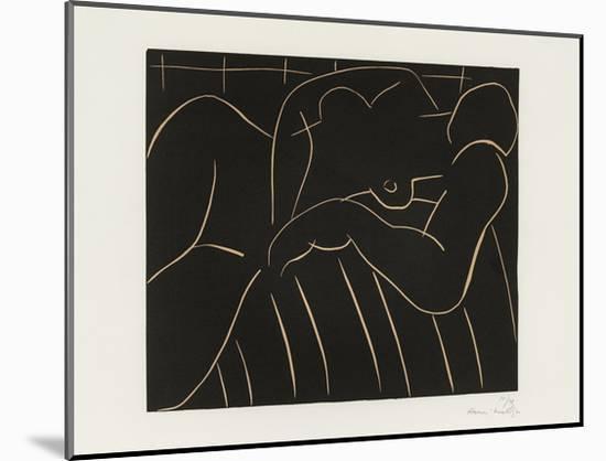 La Sieste, 1938-Henri Matisse-Mounted Art Print