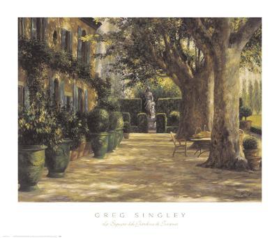 La Signora del Giardino di Tuscana-Greg Singley-Art Print