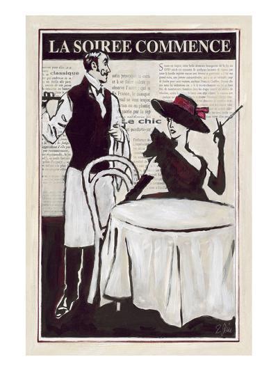 La Soiree Commence Restaurant-Rene Stein-Art Print