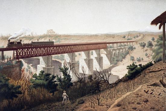 La Soledad Bridge (Veracruz), 1878, Mexico, 19th Century--Giclee Print