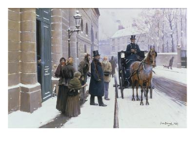 La Sortie du Bourgeois, 1889-Jean B?raud-Giclee Print