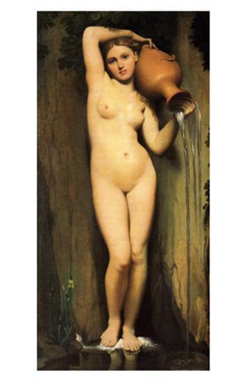 La Source-Jean-Auguste-Dominique Ingres-Art Print