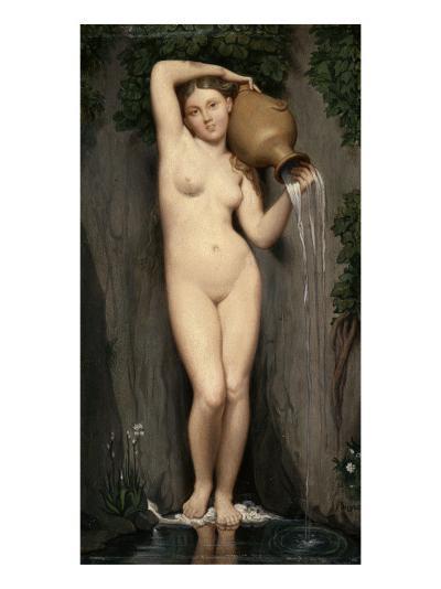 La source-Jean-Auguste-Dominique Ingres-Giclee Print