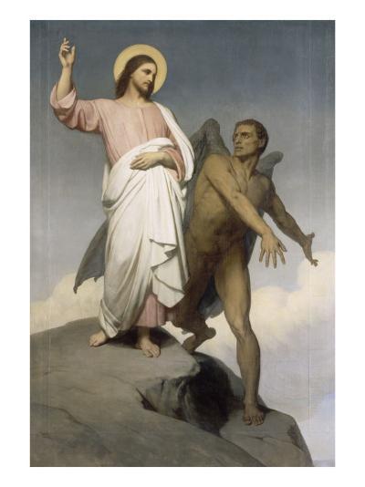 La tentation du Christ-Ary Scheffer-Giclee Print