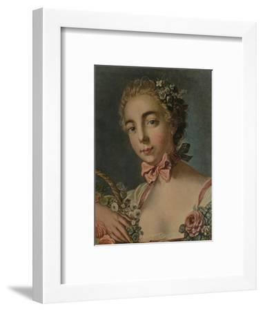 'La Tete De Flore (Madame Deshayes)', 1769, (1913)-Louis Marin Bonnet-Framed Giclee Print