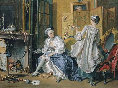 La Toilette, 1742-Fran?ois Boucher-Giclee Print