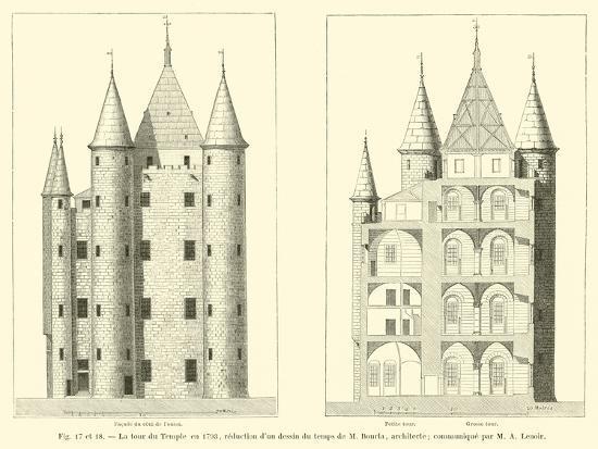 La Tour Du Temple En 1793--Giclee Print