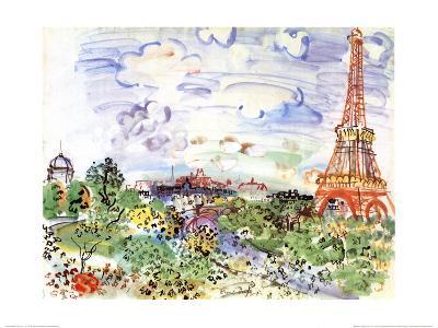 La Tour Eiffel, c.1935-Raoul Dufy-Art Print