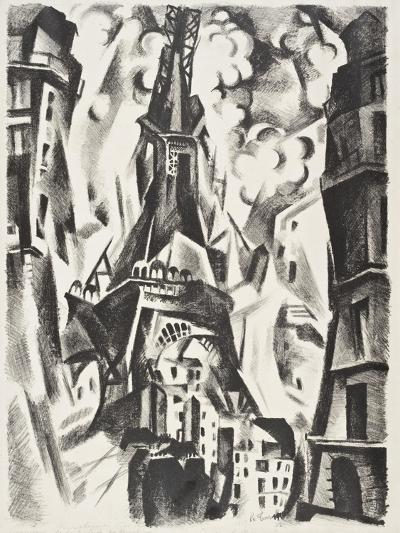 La Tour Eiffel-Robert Delaunay-Giclee Print