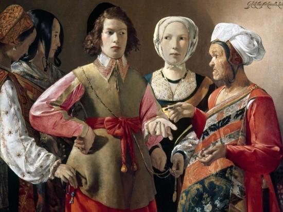 La Tour: Fortune Teller-Georges de La Tour-Giclee Print
