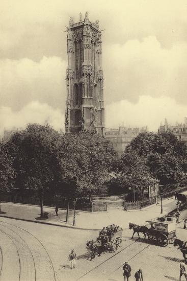 La Tour Saint-Jacques--Photographic Print
