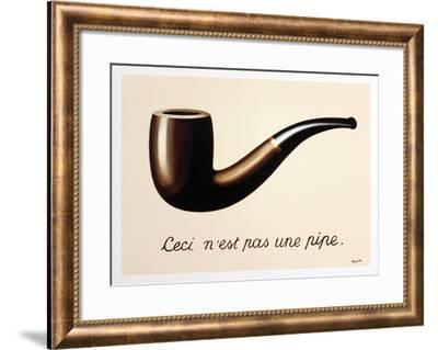 La Trahison des Images-Rene Magritte-Framed Art Print