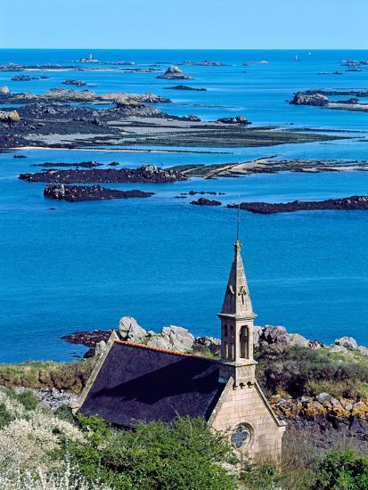 La Trinite Chapel at Ile-De-Brehat Archipelago, Cotes-D'Armor, Brittany, France--Photographic Print