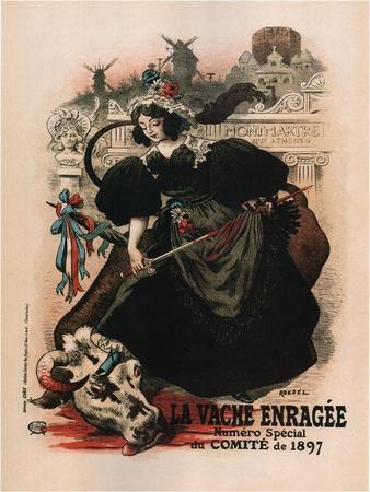 La Vache Enragee-Auguste Roedel-Art Print