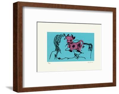 La Vache Rose-Erik Dietman-Framed Limited Edition