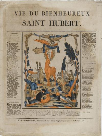 La vie du bienheureux saint Hubert--Giclee Print