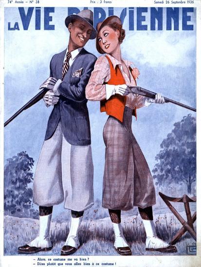 La Vie Parisienne, Couples Shooting Guns Hunting Magazine, France, 1936--Giclee Print