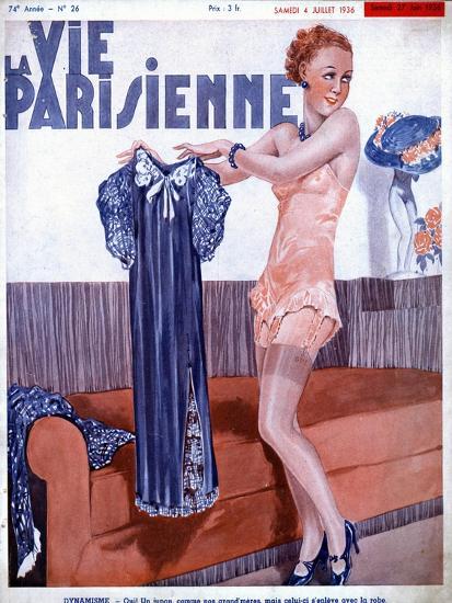 La Vie Parisienne, Dressing Underwear Erotica Magazine, France, 1936--Giclee Print
