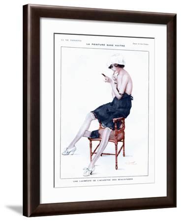 La Vie Parisienne, Glamour Erotica Underwear and Make-Up, France, 1910--Framed Giclee Print
