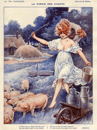 La Vie Parisienne, Maurice Milliere, 1919, France--Giclee Print
