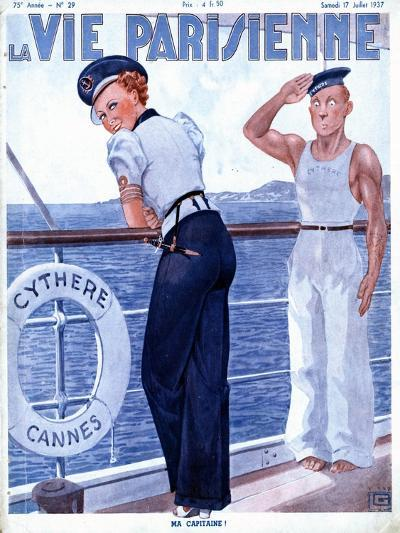 La Vie Parisienne, Nautical Magazine, France, 1937--Giclee Print