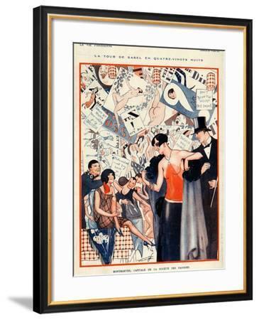 La Vie Parisienne, Vald'es, 1924, France--Framed Giclee Print