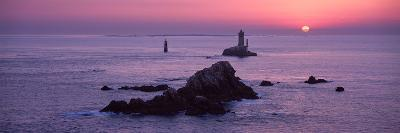 La Vieille Lighthouse at Sunset, Finistere, Brittany, France--Photographic Print