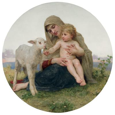 La Vierge a L'Agneau, 1903-William Adolphe Bouguereau-Giclee Print