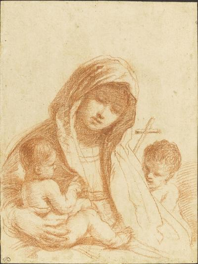 La Vierge à l'Enfant avec le petit saint Jean-Guerchin Le-Giclee Print
