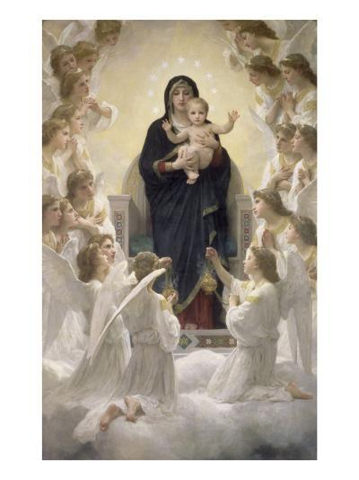 La Vierge aux anges-William Adolphe Bouguereau-Giclee Print