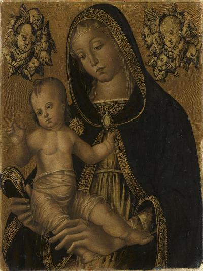 La Vierge et l'Enfant, avec deux chérubins--Giclee Print