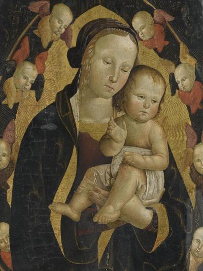 La Vierge et l'Enfant dans une gloire de séraphins-da Viterbo Antonio-Giclee Print