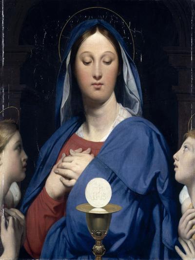 La Vierge �'Hostie-Jean-Auguste-Dominique Ingres-Giclee Print