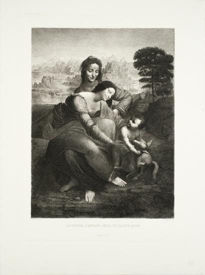 La Vierge, l'Enfant Jesus et St. Anne-Leonardo da Vinci-Collectable Print