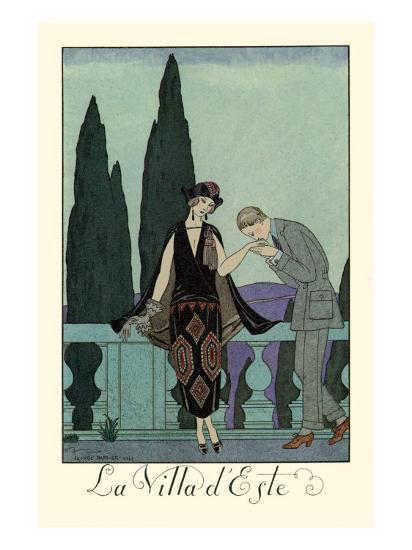 La Villa d'Este-Georges Barbier-Art Print