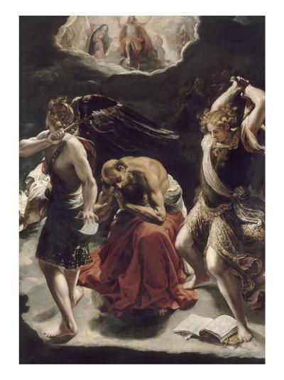 La vision de saint Jérôme-Orazio Borgianni-Giclee Print